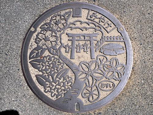 Miyake Nara, manhole cover (奈良県三宅町のマンホール)
