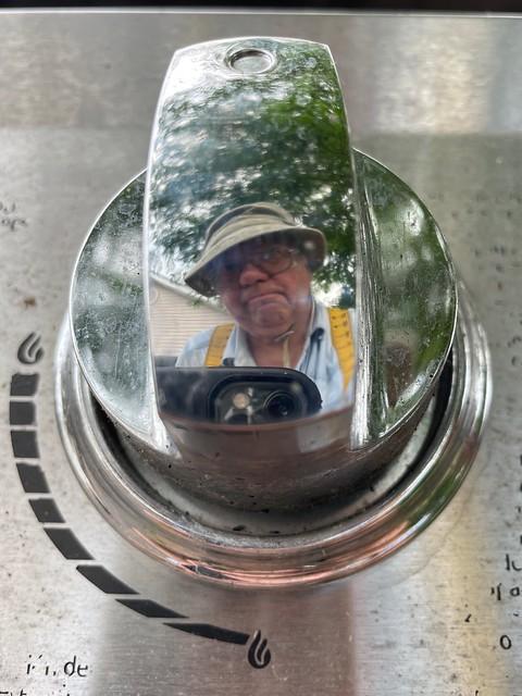 Grill Master Self Portrait. AKA Noob on a Knob