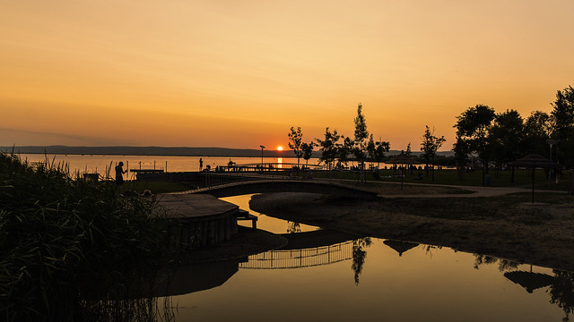 Sunset on Lake Neusiedl