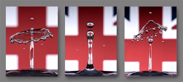 Flying the Flag, Water Drop Triptych