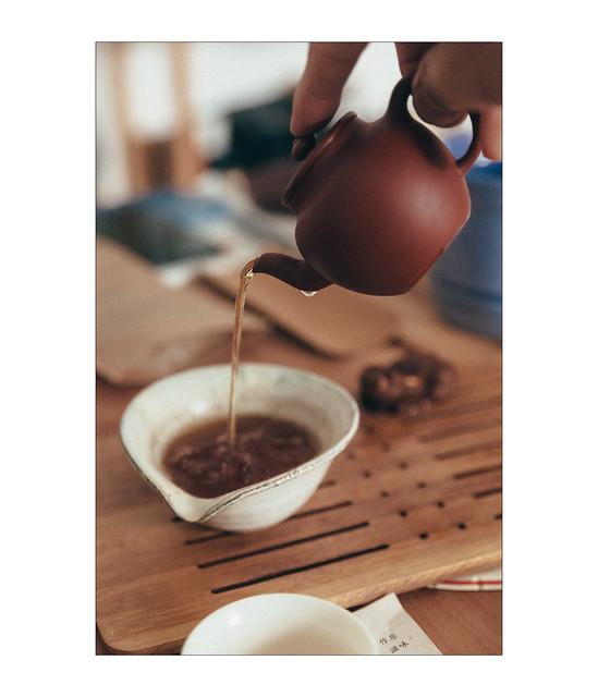 Yixing Pot and Aged Sheng