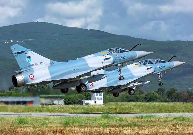 Dassault Mirage 2000 C French Air Force 115-LJ N° 105 & Dassault Mirage 2000 B French Air Force 115-OA N° 524