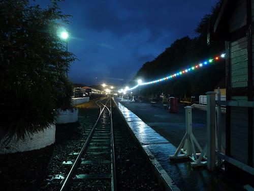 Douglas station at night