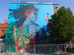 Street art on North Street, Bristol for Upfest 2021 (artist: Insane 51)