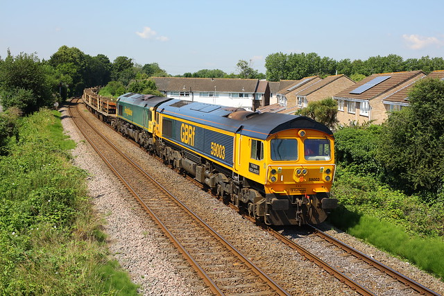 Mixed double on the approach to Eastleigh