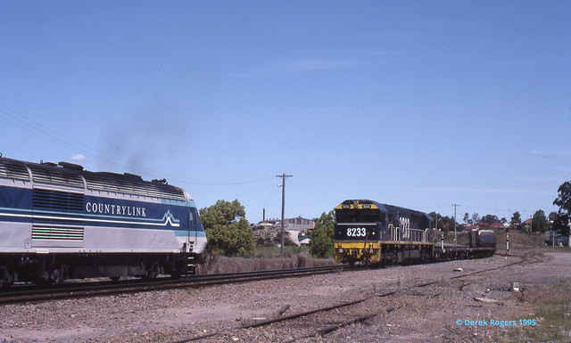 Crossing the XPT at Gloucester