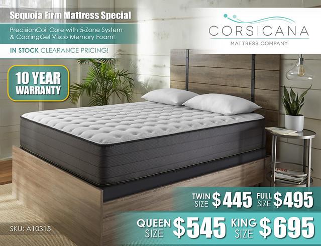 Sequoia Firm Corsicana Mattress_10315PR_July2021