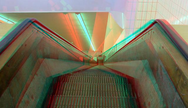 Roltrap Maastunnel Rotterdam 3D