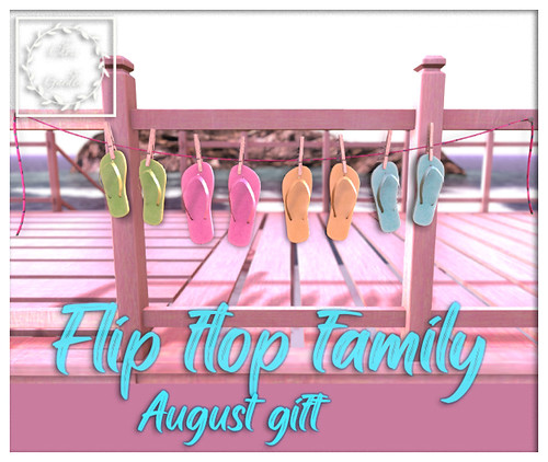 Flip flop family August gift