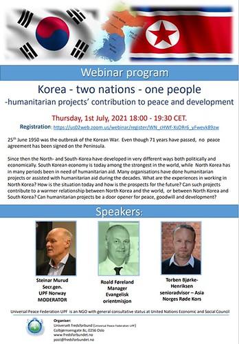Norway-2021-07-01-Webinar Explores 'People' Approach to North Korea