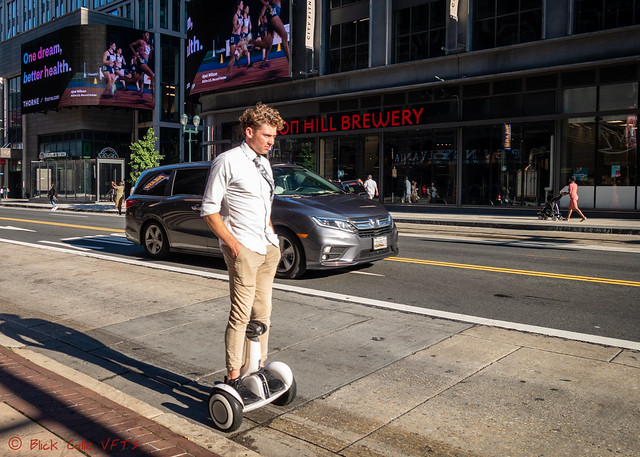 So Casual On A Self Balancing Scooter