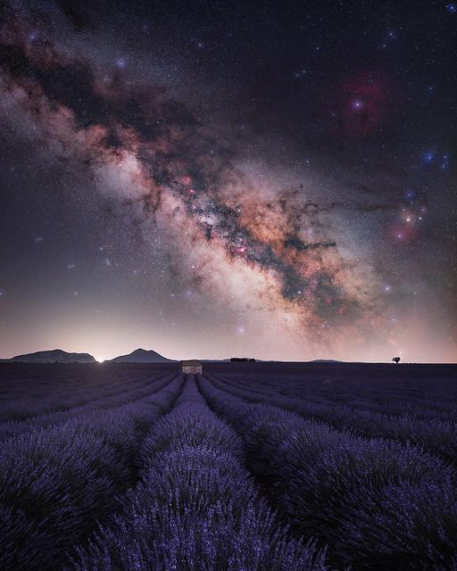 Cabanon de Valensole sous la Voie Lactée