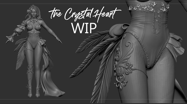 GIVEAWAY & WIP  the Crystal Heart Festival