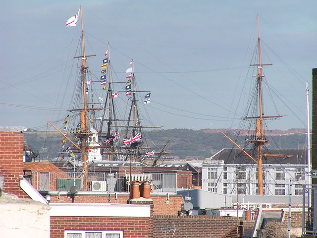 Masts at Portsmouth Dockyard - England