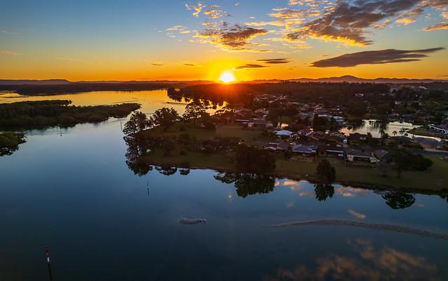 Waterfront Bay Sunset Panorama