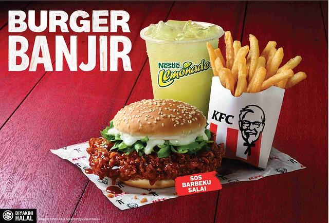 Photo 2A (With Background) - Kfc Burger Banjir Combo