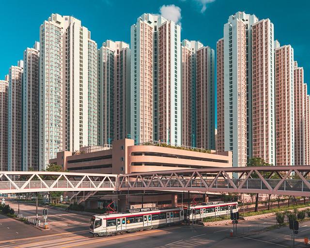 A huge housing estate in Tin Shui Wai