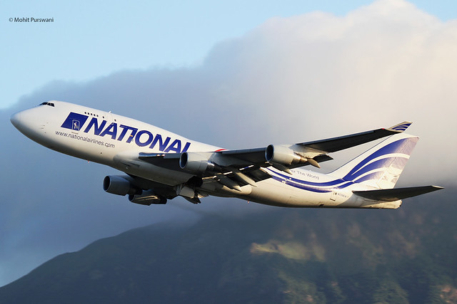 National Airlines (N8-NCR) / 747-412(BCF) / N729CA / 07-05-2021 / HKG