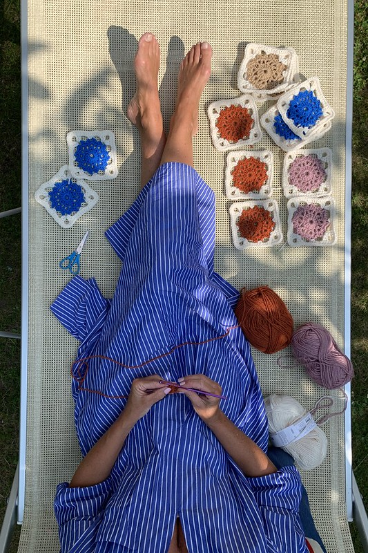 backyard baby blanket project