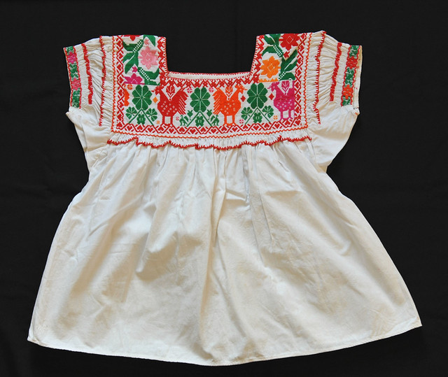 Nahua Blouse Puebla Mexico Hueyapan Textiles