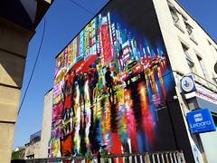 Street art on North Street, Bristol for Upfest 2021 (artist: Dan Kitchener)