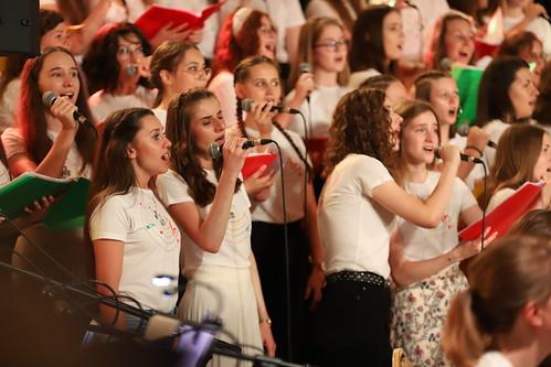 5. rocznica Światowych Dni Młodzieży w Krakowie i premiera polskiej wersji hymnu ŚDM Lizbona 2023 w Sanktuarium św. Jana Pawła II w Krakowie 24.07.2021 r.