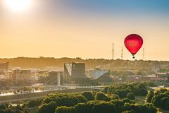Red balloon | Kaunas aerial #206/365