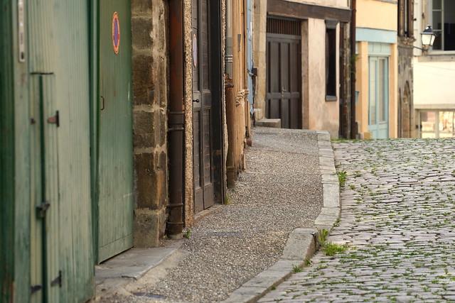 Colors and grey cobblestones