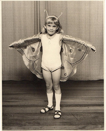 Janet as a butterfly