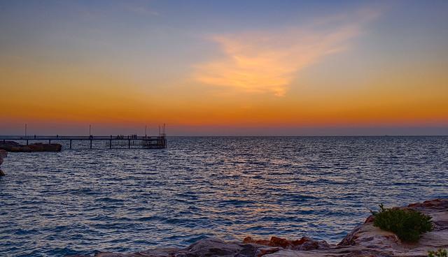 Twilight over Nightcliff Jetty - Darwin Harbour, NT, Australia