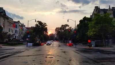 Sunset over Mass. Ave.