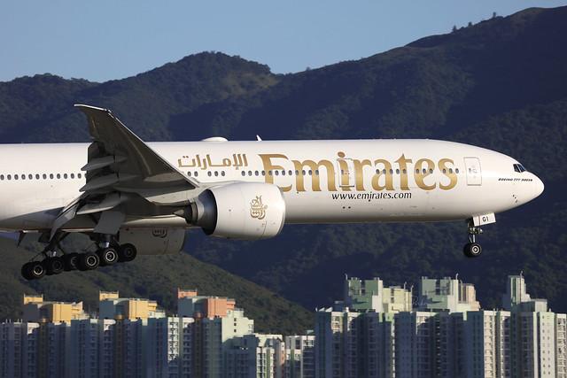 A6-EGI, Boeing 777-300ER, Emirates, Hong Kong
