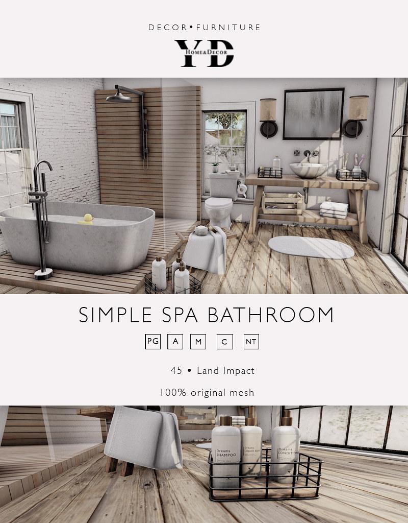 {YD}Simple Spa Bathroom