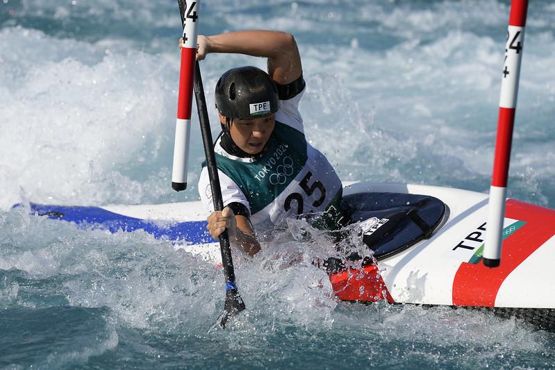 張筑涵在奧運奮戰。(達志影像)