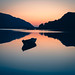 The upper lake at sunrise - July 2021