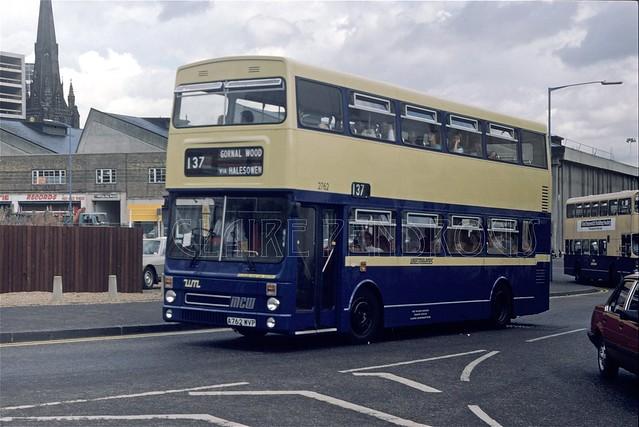 WMPTE 2762, Upper Dean Street,  Birmingham, 1984