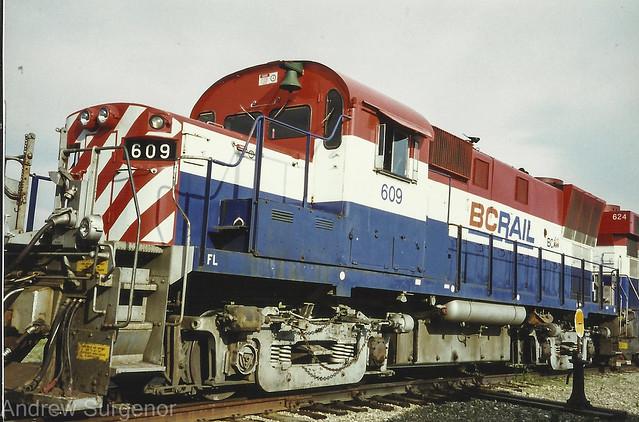 BC Rail -  RS18m CAT repower