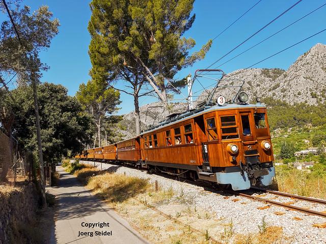 ES-07110 Bunyola (Mallorca) Bahnhof/Estacion Ferrocarril de Soller im Juli 2021