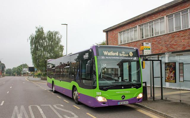 IB 155 - BF65 HVV (TfL Underground Replacement - Watford, Exchange Road) 25-07-2021