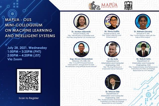 Mapúa University - Okayama University of Science Mini-Colloquium on Machine Learning and Intelligent Systems