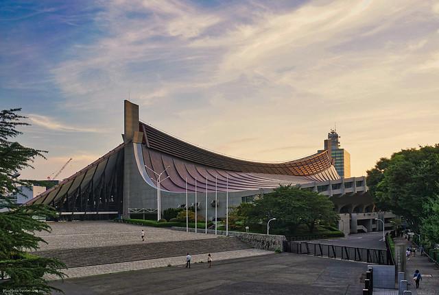 Tokyo Olympics, National Gymnasium at Sunset ()