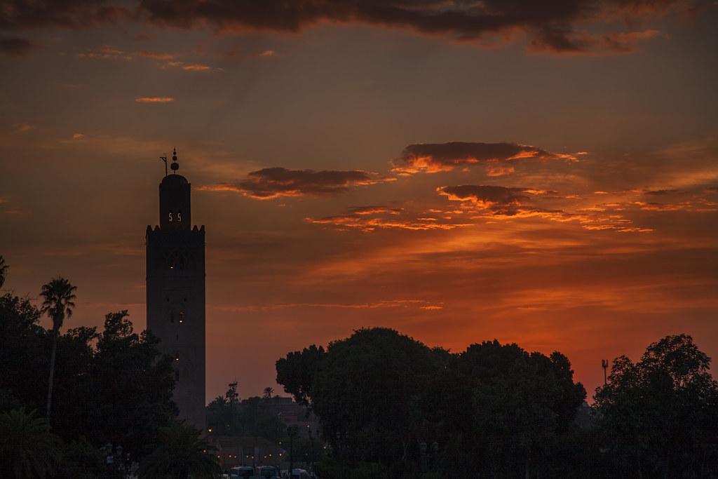 Sunset over the Koutoubia -  Marrakech - Morocco