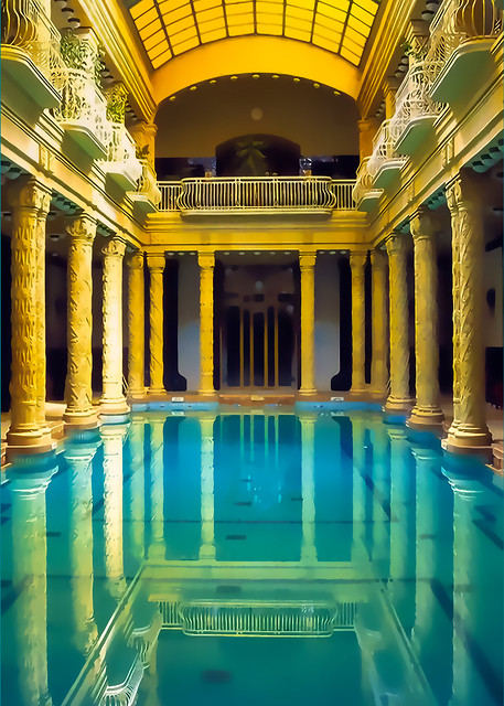 Mirror Pool at Gellert Spa, Budapest