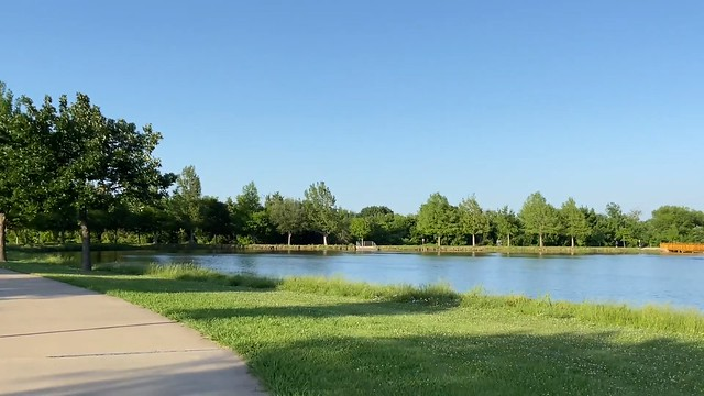 Russell Creek Park at 10 minutes drive to the northeast of Water Heater Hero Plano TX