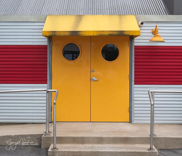 A colorful entrance