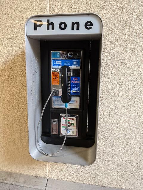 Payphone, Burbank Hollywood Airport, Burbank, California, USA