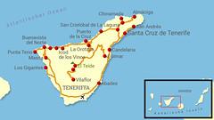 Reiseroute Teneriffa