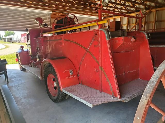 Chevrolet fire truck rear