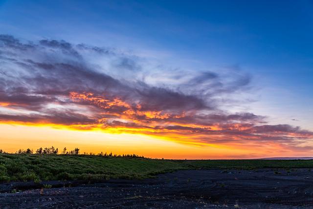 Sunset in Axarfjordur