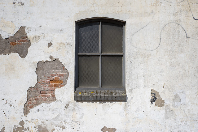 White wall in decay